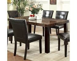 coaster dining room sets coaster orlando rectangular dining table w faux marble top co 103791
