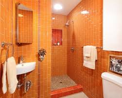 orange bathroom ideas orange bathroom tiles e causes