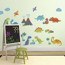 Amazon Wall Murals by Amazon Com Dino Friends Decorative Peel U0026 Stick Wall Art Sticker