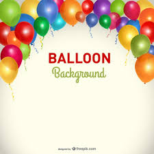 free balloons party background balloons template vector free