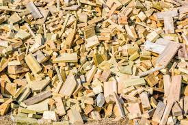 leftover wooden pieces piled up to form a background used