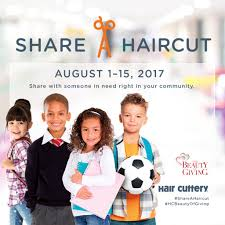 get a haircut to share a haircut