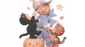 cute pumpkin halloween wallpaper scarecrows and pumpkins wallpaper wallpapersafari