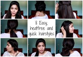 8 easy quick u0026 heatless hairstyles perfect for college office