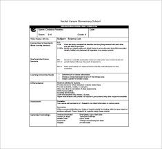 daily lesson plan template u2013 12 free sample example format
