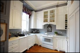 red oak wood chestnut lasalle door white paint for kitchen