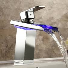 bathroom faucet with led light chrome polished brass square bathroom basin led light mixer faucet