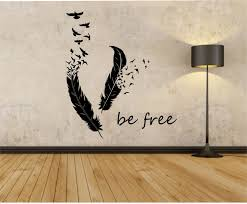 feather home decor feathers turning into birds vinyl wall decal sticker art decor