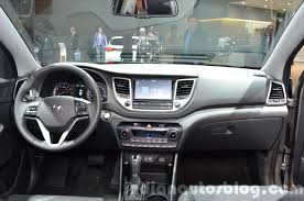 hyundai tucson 2015 interior 2016 hyundai tucson dashboard at 2015 frankfurt motor show