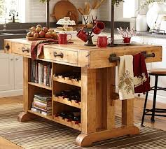 pottery barn kitchen islands pottery barn wax pine kitchen island butcher block style wine rack