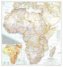 Africa Topographic Map by National Geographic Africa Map 1943 Maps Com
