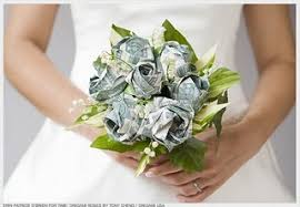 money flowers in honor of tax day money flower toss bouquet flower