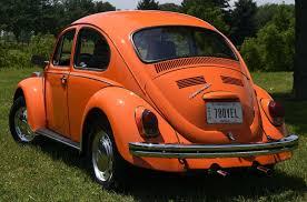 beetle volkswagen 1970 1970 70 volkswagen vw classic beetle orange manual low milage