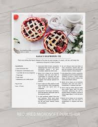printable recipe template 8 5x11 microsoft publisher instant