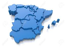 Spain On World Map by Three Dimensional Map Of Spain On White Background 3d Stock Photo
