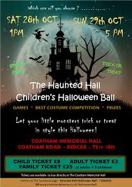 the haunted hall halloween ball tickets the coatham memorial