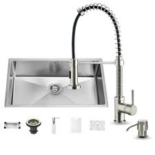 Kitchen Sinks And Faucets by Vigo Undermount Stainless Steel 32 In Single Basin Kitchen Sink