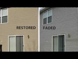 restore color to faded vinyl siding