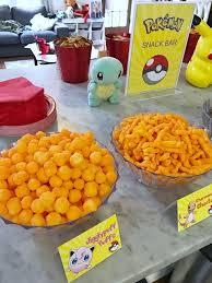 pokémon snack bar for a pokémon themed birthday party click or