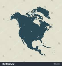 Outline Map Of North America by Outline Map North America Isolated Vector Stock Vector 572533807