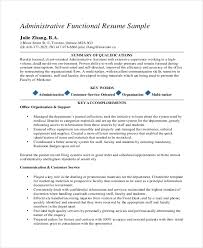 functional resume template administrative assistant 10 medical administrative assistant resume templates free