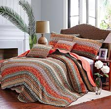 go bohemian chic with this bohemian queen best boho bedding sets with boho bedspread quilt sets bohemian queen best striped classical cotton  piece patchwork from luxcomfybeddingcom