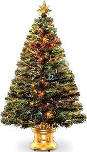artificial prelit christmas trees celebrations 36 inch led fiber optic prelit artificial