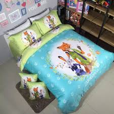 2016 new arrival zootopia nick and judy printed queen size 100