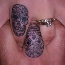 tattoos for sugar skull finger tattoos getattoos us