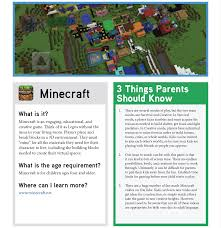 Tip Sheet For Your Creative Minecraft Tip Sheet