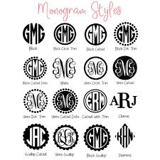 monogram decals laptop monogram sticker vinyl monogram decal for computer