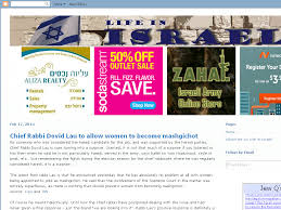 life in israel chief rabbi dovid lau to allow women to become
