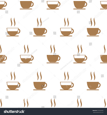 coffee cup seamless pattern cute patternvector stock vector