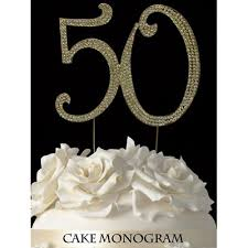 50th cake topper simple design 50th anniversary cake topper stylist and luxury gold