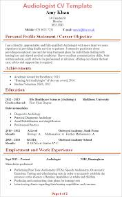 resume template for teens pdf audiologist cv template tips and download cv plaza