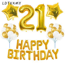 balloon decorations mylar number letter 21st birthday decorations party happy birthday letter foil balloon