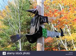Flying Witch Decoration Funny Halloween Decoration Witch Flying Stock Photos U0026 Funny