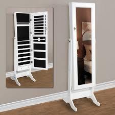 Wall Mirror Jewelry Armoire Bedroom Fabulous Jewelry Armoire Floor Standing Vanity Mirror