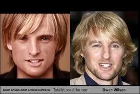 Owen Wilson Meme - south african artist armand hofmeyer totally looks like owen