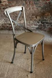 Metal Chaise Chaise Bistrot Industrielle Bois Et Métal Meubles Pinterest