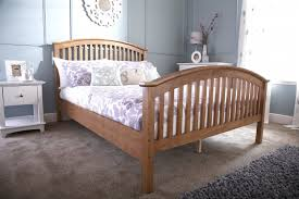 Bed Frames Oak Madrid Wooden High Foot End Bed Frame In Oak By Gfw Beds Direct