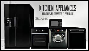 black kitchen appliances second life marketplace kitchen appliances black refrigerator