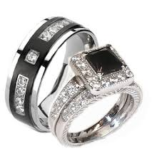 his and hers wedding ring sets unique wedding ring sets for him and