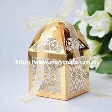 candy containers for favors shiny gold boxes wedding party favor candy boxes 50 pcs lot paper