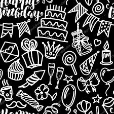 imagenes de cumpleaños sin letras letras de feliz cumpleaños y garabato de patrones sin fisuras