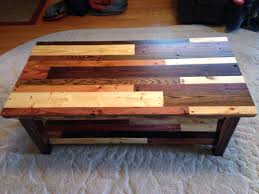 Different Types Of Coffee Tables Coffee Table Made From Pallet Wood Top View Showing Different