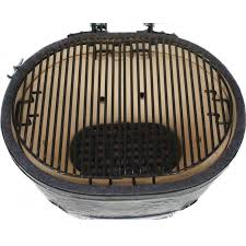 Backyard Grill by Primo Ceramic Charcoal Kamado Grill Oval Jr 200 W 2 Piece