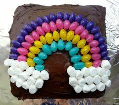 Easy Cake Decorating Idea Jelly Bean Rainbow Cake Little Miss Kate