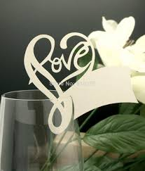 Placecards Romantic Love Heart Name Place Cards Laser Cut Table Name Cards
