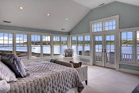 Sure Fit Twill Supreme Chair Slipcover Cottage Master Bedroom With Lake View U0026 Carpet In Bainbridge